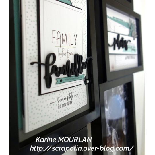 """Mot """"family"""" en Acrylique Noir 11,7 x 3,5 cm - Scrapmouset"""