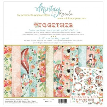 "Collection 12 papiers 30 x 30 ""Together"" de Mintay"