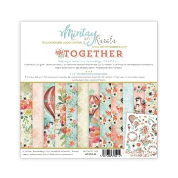 "Bloc de papiers 15 x 15 collection ""Together"" de Mintay"