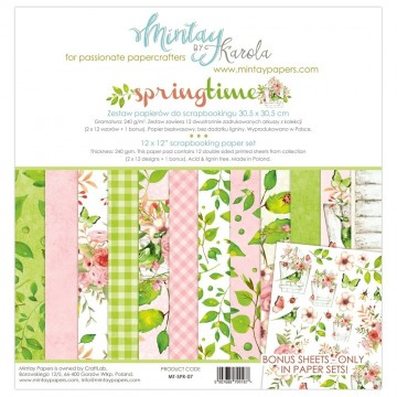 "Collection 12 papiers 30 x 30 ""Springtime"" de Mintay"