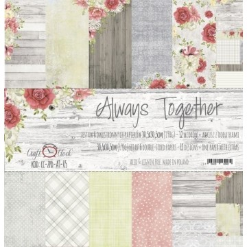 "Set 6 papiers ""Always Together"" de Craft O Clock"