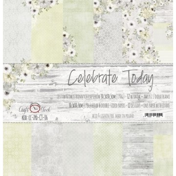 "Set 6 papiers ""Celebrate Today"" de Craft O Clock"