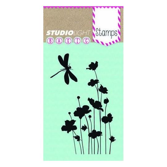 """Tampon clear """"Fleurs et libellule"""" Studio Light"""