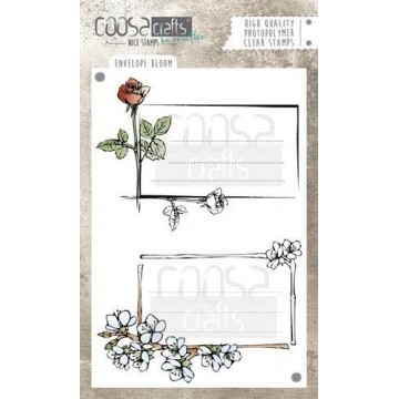 "Set de 2 tampons clear ""Envelope bloom"" Coosa Crafts"