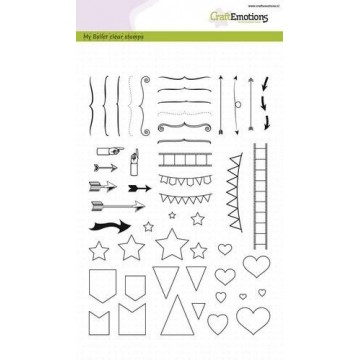 "Set de tampons clear format A5 ""Bullet journal"" Craftemotions"