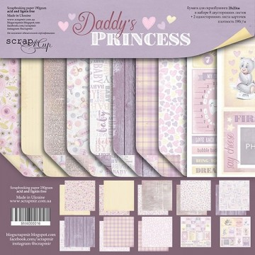 "Set de 10 papiers 20 x 20 collection ""Daddy's Princess"" de Scrapmir"