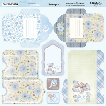 "Papier enveloppes 20 x 20 collection ""Mommy's Hero"" de Scrapmir"