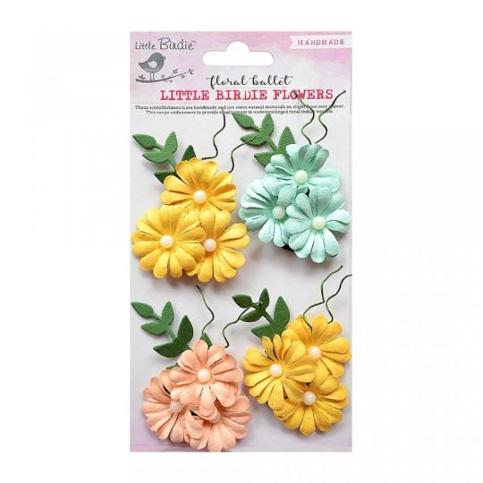 "Fleurs ""Poppy Pansies Pastel"" de Little Birdie"