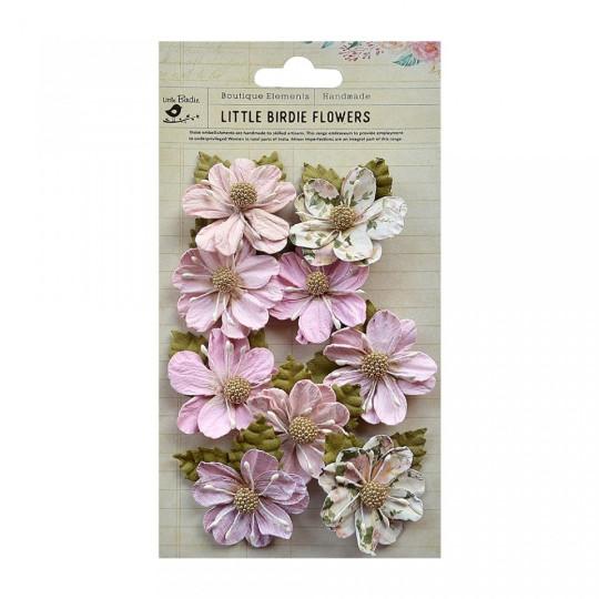 """Fleurs """"Wendy Pearl Pink"""" de Little Birdie"""