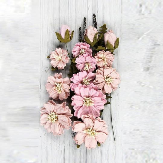 "Fleurs ""Natalie Pearl Pink"" de Little Birdie"
