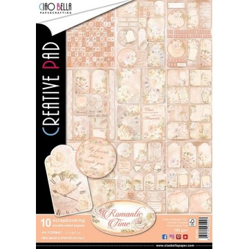"Set de 10 papiers A4 collection ""Romantic Time"" de Ciao Bella"