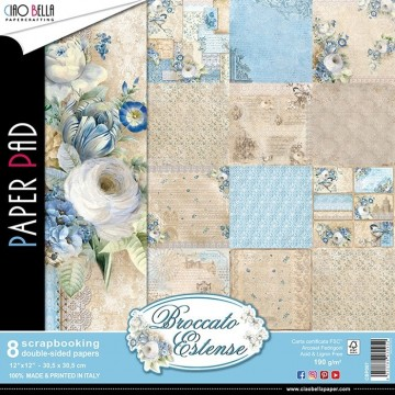 "Set de 8 papiers 30,5 x 30,5 collection ""Broccato Estense"" de Ciao Bella"