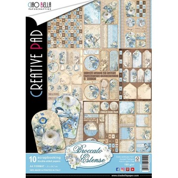 "Set de 10 papiers A4 collection ""Broccato Estense"" de Ciao Bella"