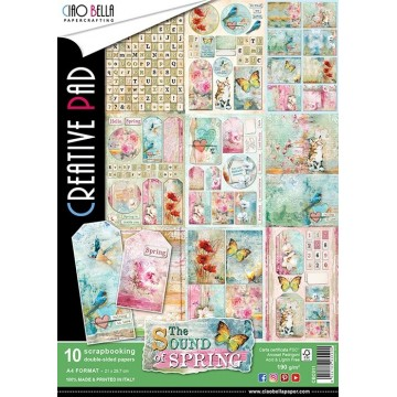 "Set de 10 papiers A4 collection ""The Sound of Spring"" de Ciao Bella"