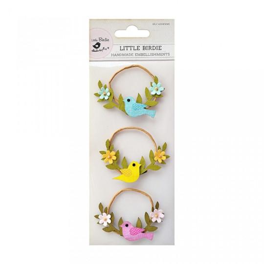 """Embellissements """"Birds & Blooms"""" de Little Birdie"""