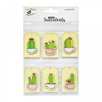 "Embellissements 3D ""Tags Cactus"" de Little Birdie"