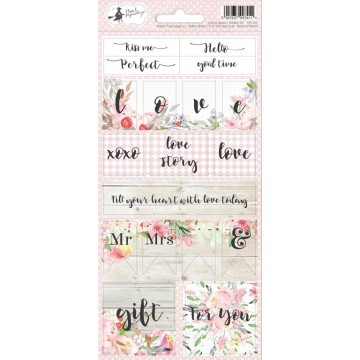 "Stickers texte et mots collection ""Love in bloom"" de Piatek"