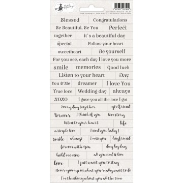 "Stickers textes et mots collection ""Love in bloom"" de Piatek"