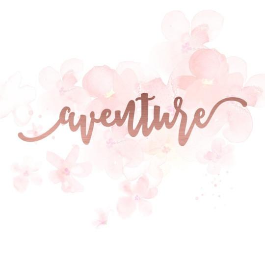 """Mot """"aventure"""" en Acrylique Rose Gold 13 x 3 cm - Scrapmouset"""