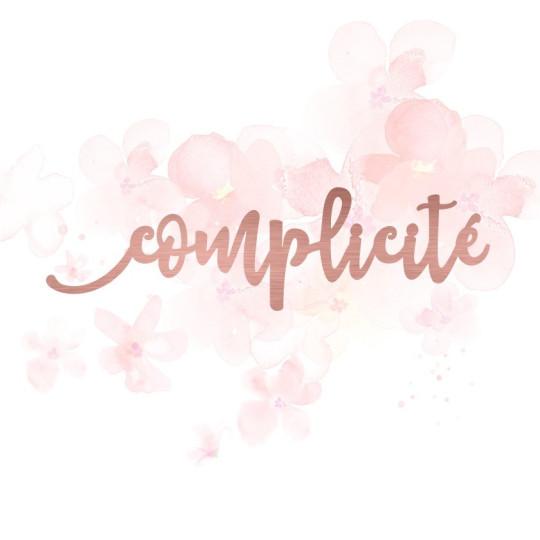 """Mot """"complicité"""" en Acrylique Rose Gold 12,3 x 3,4 cm - Scrapmouset"""