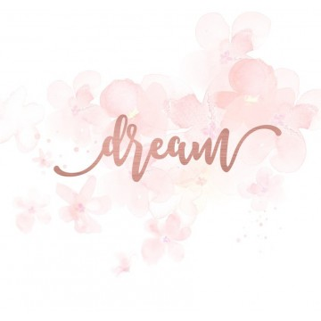 "Mot ""dream"" en Acrylique Rose Gold 10,6 x 3,3 cm - Scrapmouset"