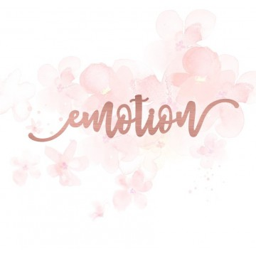 "Mot ""emotion"" en Acrylique Rose Gold 12,3 x 2,8 cm - Scrapmouset"