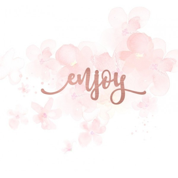 "Mot ""enjoy"" en Acrylique Rose Gold 8,9 x 3,1 cm - Scrapmouset"