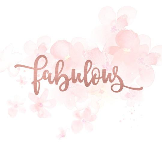 """Mot """"fabulous"""" en Acrylique Rose Gold 11,9 x 3,7 cm - Scrapmouset"""