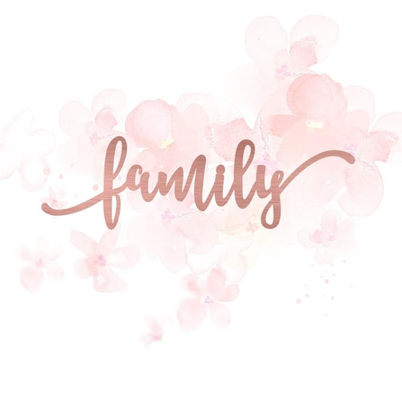 """Mot """"family"""" en Acrylique Rose Gold 11,7 x 3,5 cm - Scrapmouset"""