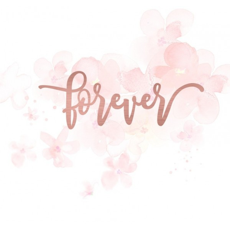 """Mot """"forever"""" en Acrylique Rose Gold 10,8 x 3,8 cm - Scrapmouset"""