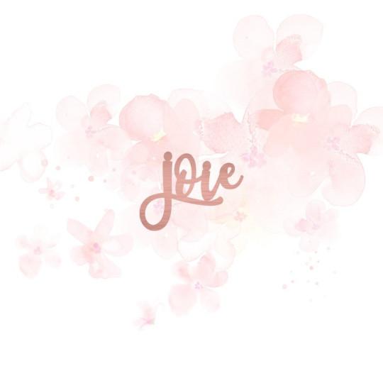 """Mot """"joie"""" en Acrylique Rose Gold 4,1 x 3,1 cm - Scrapmouset"""