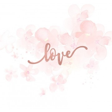 "Mot ""love"" en Acrylique Rose Gold 8 x 3 cm - Scrapmouset"