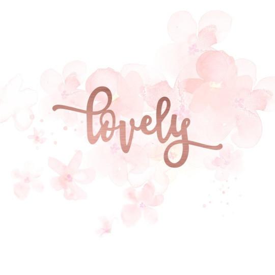 "Mot ""lovely"" en Acrylique Rose Gold 9,3 x 4,4 cm - Scrapmouset"
