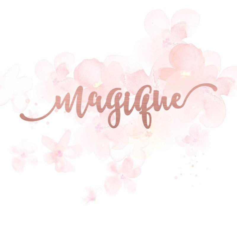 """Mot """"magique"""" en Acrylique Rose Gold 12,5 x 2,9 cm - Scrapmouset"""