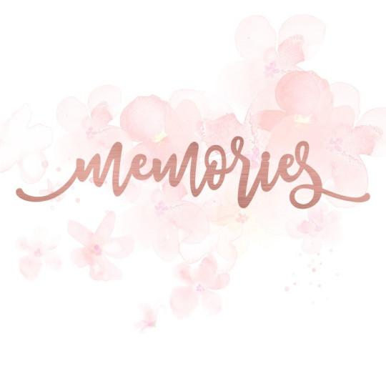 """Mot """"memories"""" en Acrylique Rose Gold 13,8 x 2,8 cm - Scrapmouset"""