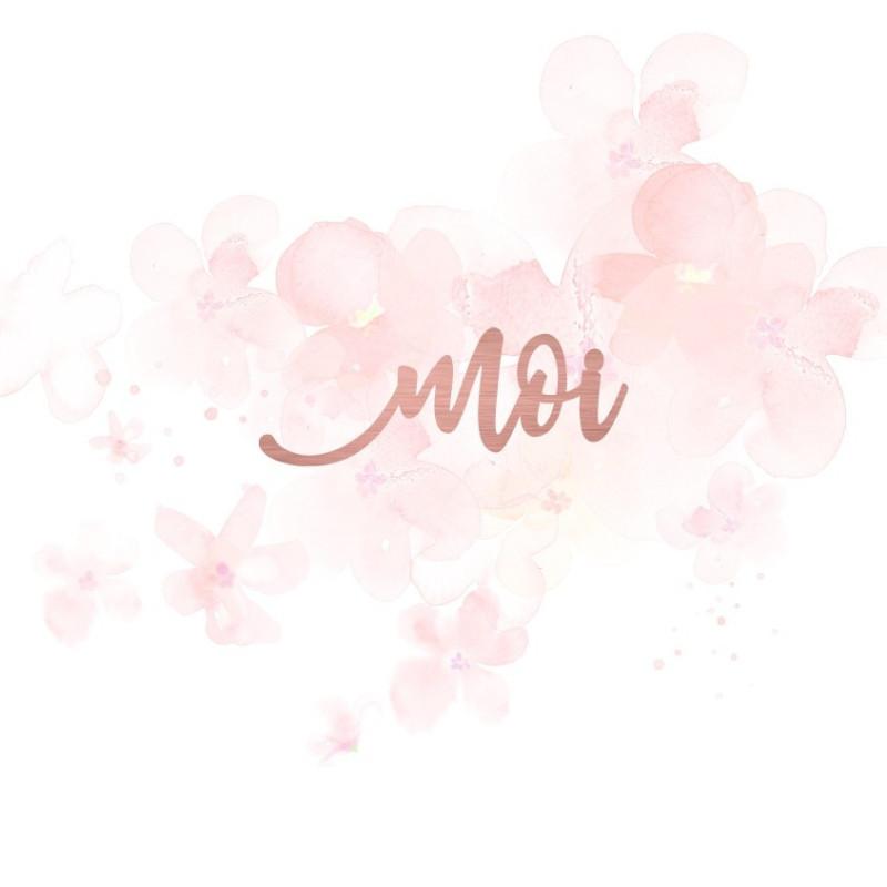 """Mot """"moi"""" en Acrylique Rose Gold 6,2 x 2,3 cm - Scrapmouset"""