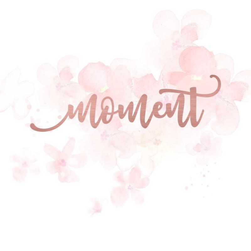 """Mot """"moment"""" en Acrylique Rose Gold 11,4 x 3,4 cm - Scrapmouset"""