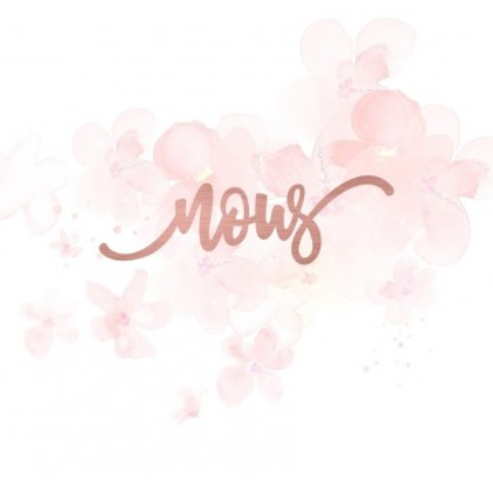 """Mot """"nous"""" en Acrylique Rose Gold 9 x 2,7 cm - Scrapmouset"""