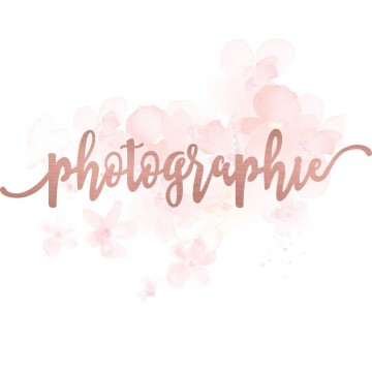"""Mot """"photographie"""" en Acrylique Rose Gold 17,6 x 3,7 cm - Scrapmouset"""