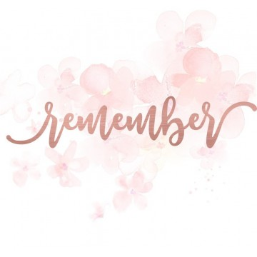 "Mot ""remember"" en Acrylique Rose Gold 14,7 x 3 cm - Scrapmouset"