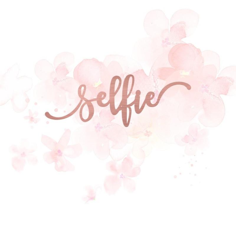"""Mot """"selfie"""" en Acrylique Rose Gold 9,3 x 3,3 cm  - Scrapmouset"""