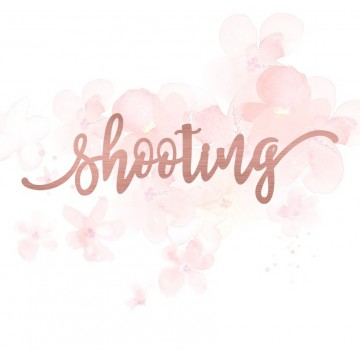 "Mot ""shooting"" en Acrylique Rose Gold 13,2 x 3,8 cm - Scrapmouset"