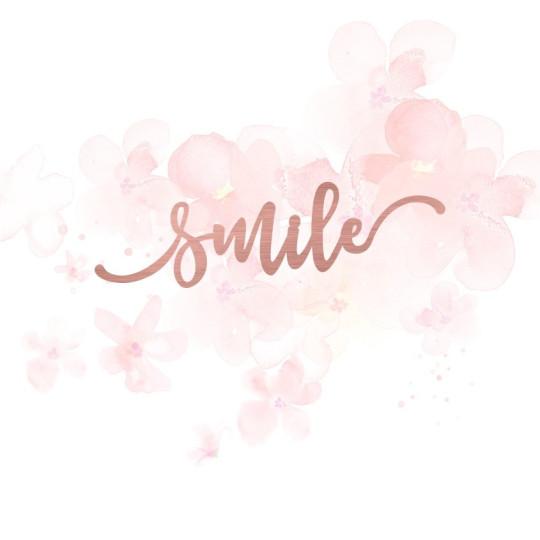 """Mot """"smile"""" en Acrylique Rose Gold 9.7 x 3,3 cm - Scrapmouset"""
