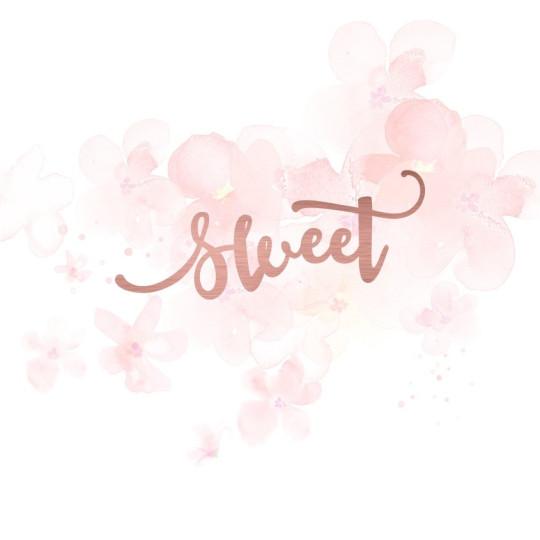"""Mot """"sweet"""" en Acrylique Rose Gold 8,6 x 3,6 cm - Scrapmouset"""