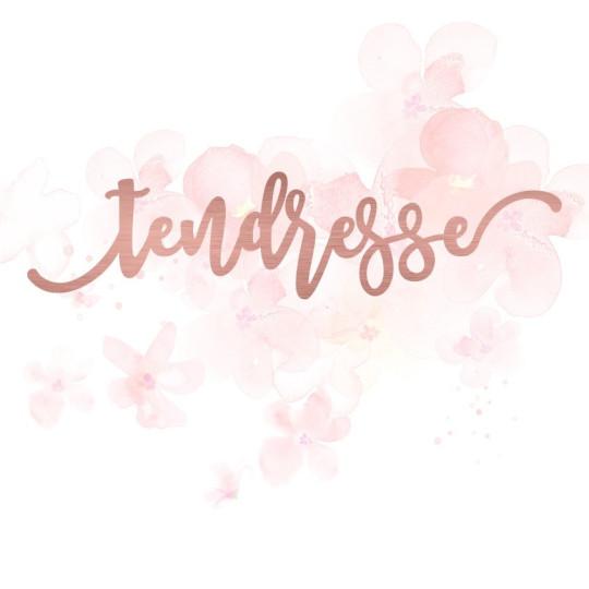 """Mot """"tendresse"""" en Acrylique Rose Gold 13,6 x 3,2 cm - Scrapmouset"""