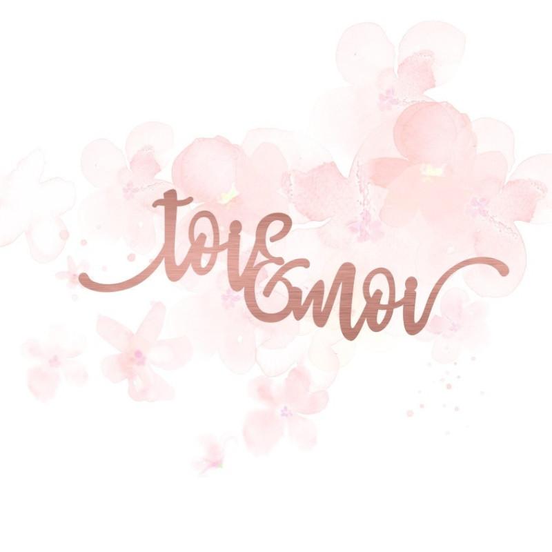 """Mot """"toi & moi"""" en Acrylique Rose Gold 11,7 x 4,1 cm - Scrapmouset"""