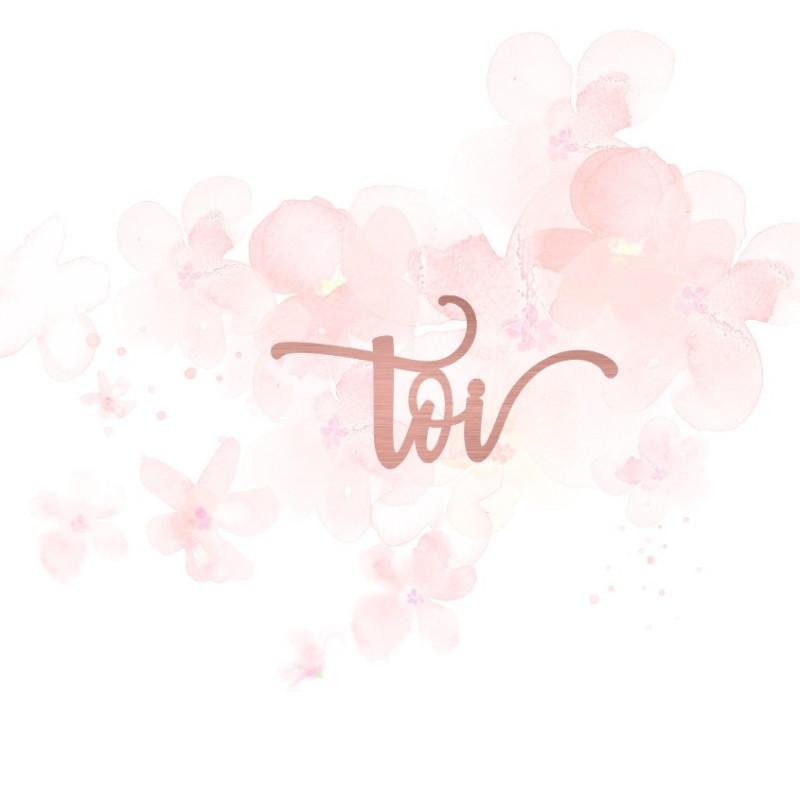 """Mot """"toi"""" en Acrylique Rose Gold 6,5 x 3,3 cm - Scrapmouset"""