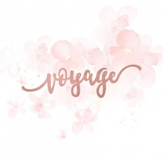 """Mot """"voyage"""" en Acrylique Rose Gold 11 x 3,1 cm - Scrapmouset"""