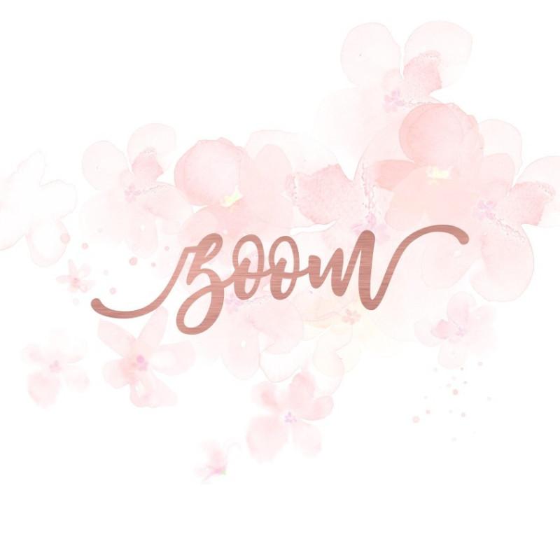 """Mot """"zoom"""" en Acrylique Rose Gold 10,1 x 2,9 cm - Scrapmouset"""