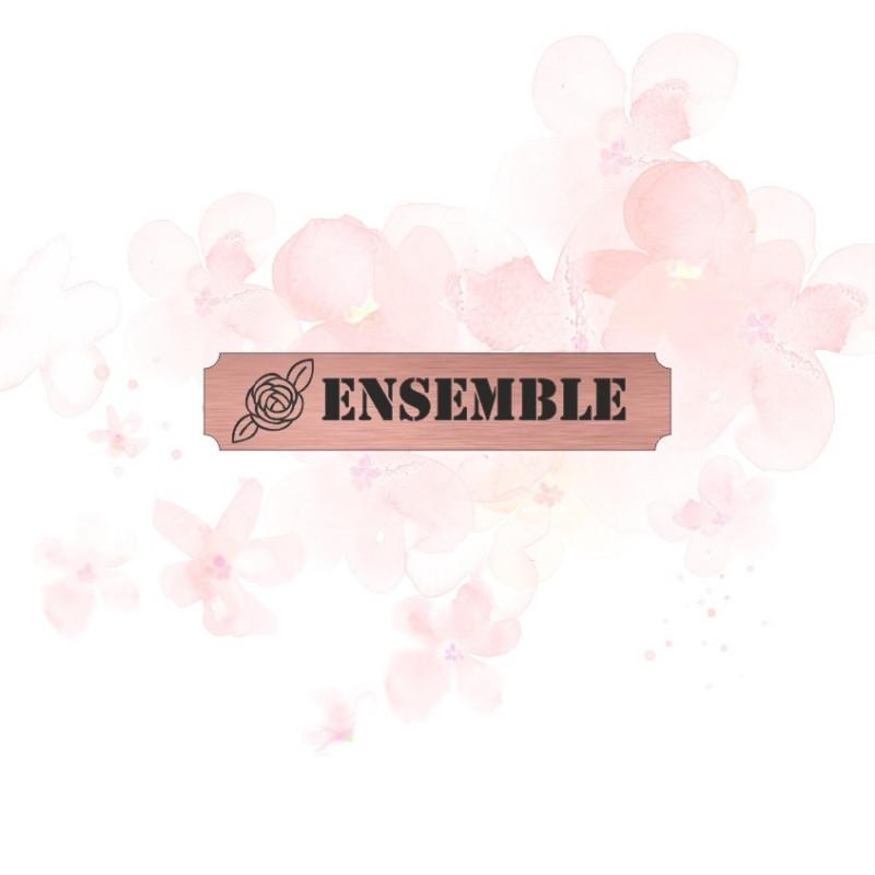 """Etiquette """"ensemble"""" en Acrylique Rose Gold 4,8 x 1 cm - Scrapmouset"""